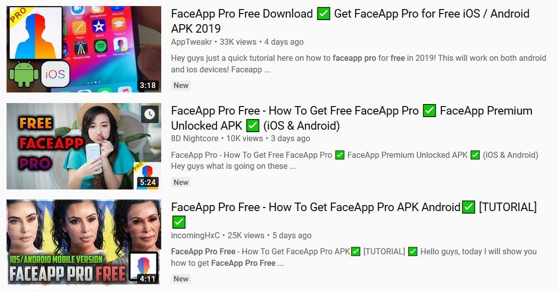 Faceapp Pro - Is it really free? - Read before download
