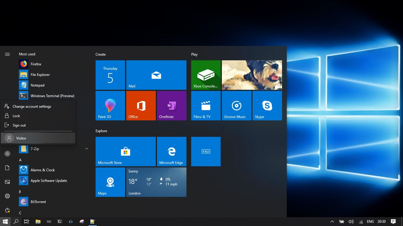 Add guest user to windows 10 Image 6